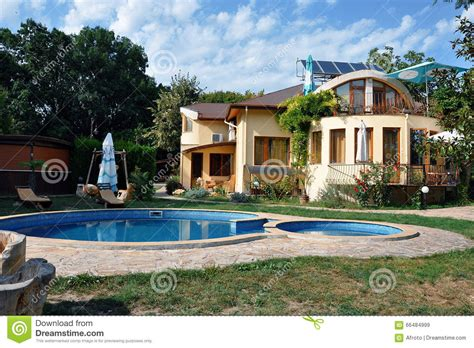 house  swimming pool stock image image  building