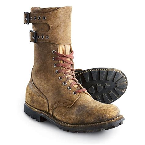 used mil boots brown 74483 combat tactical