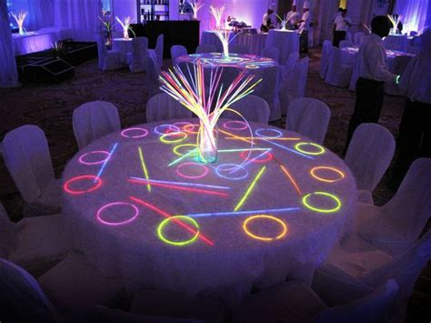 neon table decorations google search neon party neon