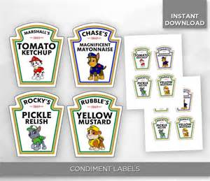 Ts Vanity Vids Sale 80 Off Paw Patrol Condiment Bottle Labels By