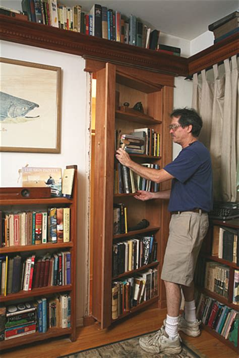how to build a bookcase door build your own secret bookcase door abebooks reading copy