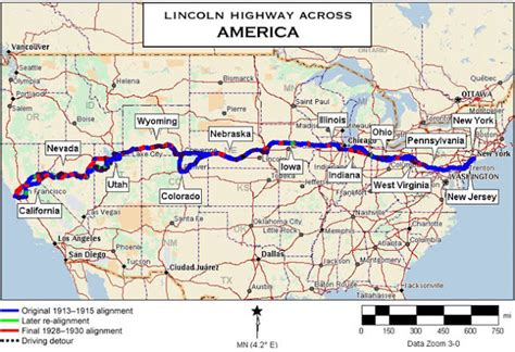 us road map i 80 retro kimmer s blog the us lincoln highway is the