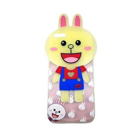 Softcase Icon Line For Iphone 5 jual silicon 3d silicon kartun karakter line softcase