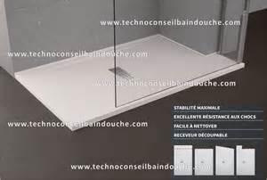 receveur de custom ultra plat en acrylique renforce