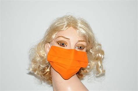 fruit orange surgical face mask mouth shutters