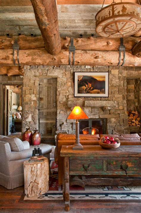 rustic interior design by halvorsen architects decoholic a rustic cabin in montana s prestigious yellowstone club