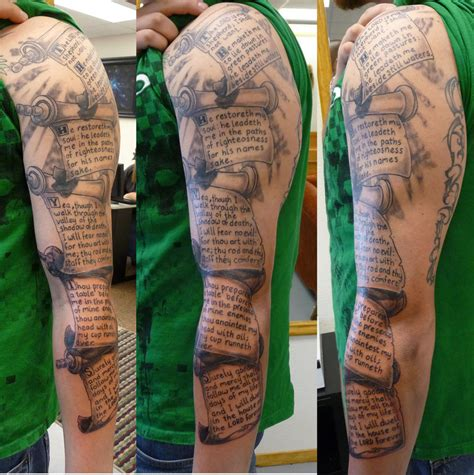 great sleeve tattoo designs scripture tattoos designs ideas and meaning tattoos for you
