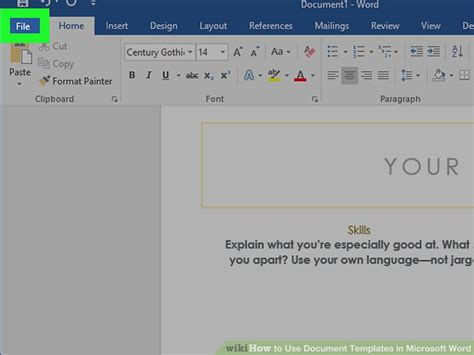 how do i use a template in word 6 ways to use document templates in microsoft word wikihow