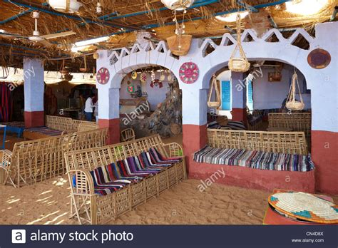 house of nubian egypt nubian village near aswan inside traditional nubian house stock photo