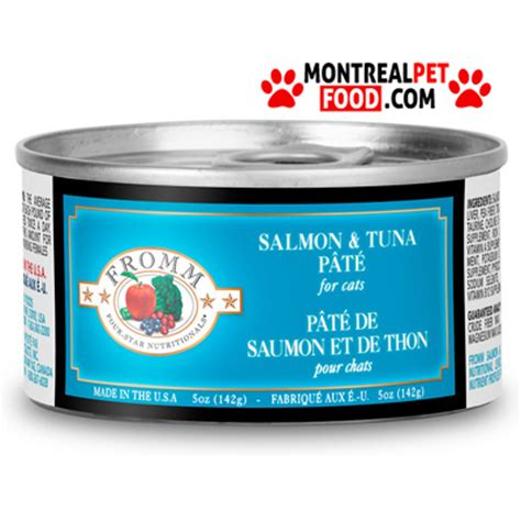 fromm canned food fromm canned cat food salmon tuna pat 233 montreal pet food