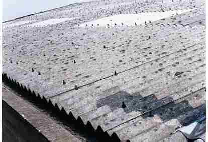 bahaya atap rumah  asbes
