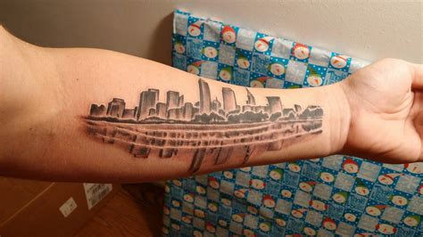 cleveland skyline tattoo great shops cleveland