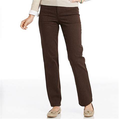 gloria vanderbilt mona comfort waist pants gloria vanderbilt mona comfort waist pinstripe trouser