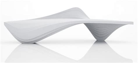 zaha hadid bench zaha hadid design s serac bench for lab23 fubiz media