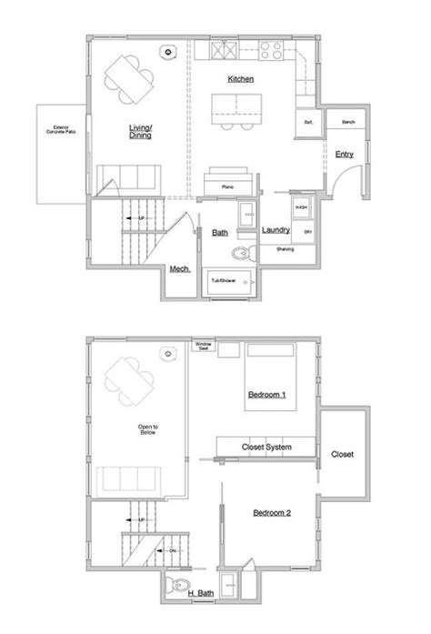small cube home a touch of outside small houses cube house floor plans escortsea