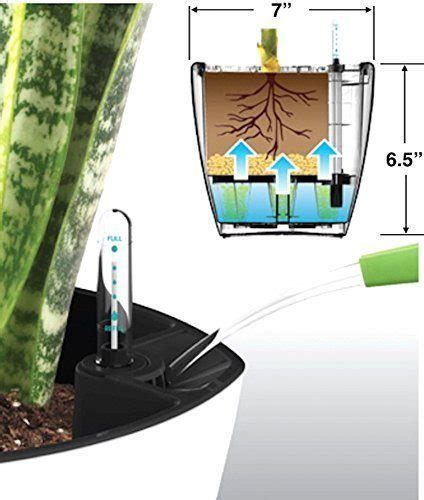 7 best self watering planters for indoors and outdoors aquaphoric self watering planter 7 fiber soil