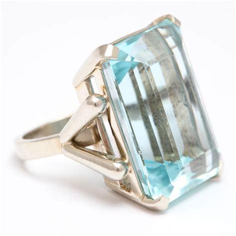 aquamarine white gold vintage ring bling i want