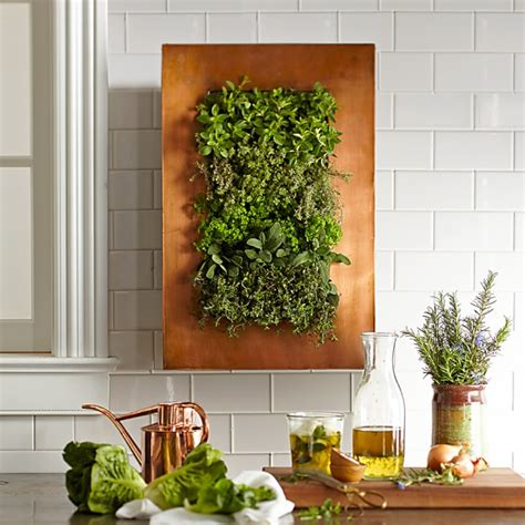 copper vertical wall planter williams sonoma