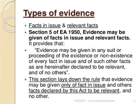 of evidence1