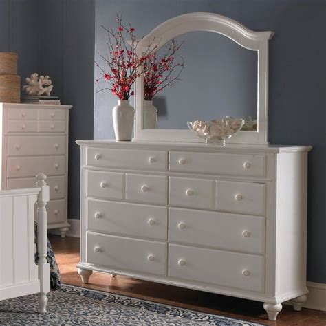 Broyhill White Bedroom Furniture Broyhill Hayden Place 8 Drawer Dresser W Arched Mirror In White 4649 230 4649 237 Set