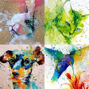 water color paintings splashed watercolour paintings that capture the energy of