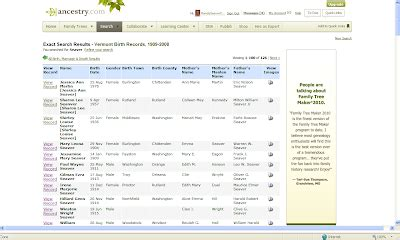 Birth Records Vermont Genea Musings Vermont Vital Records 1909 To 2008 On Ancestry