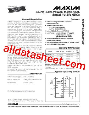 maxim integrated products merger max146 datasheet pdf maxim integrated products