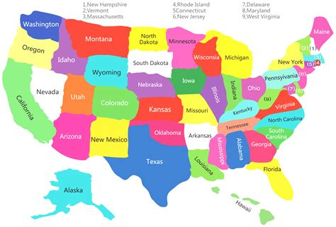 maps of united states with capitals united states map with colors color map united states