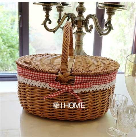 Handmade Baskets - wicker picnic basket handmade storage cassette cover