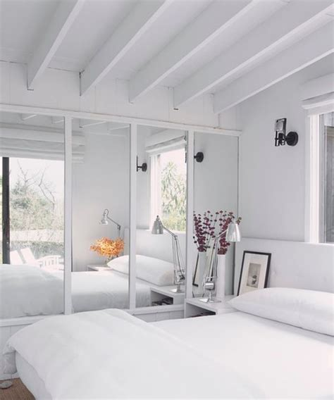 Bedroom Wall White Add Style And Depth To Your Home With Mirrored Walls