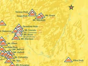 map of colorado 14ers 60 colorado 14ers map 18x24 poster best maps