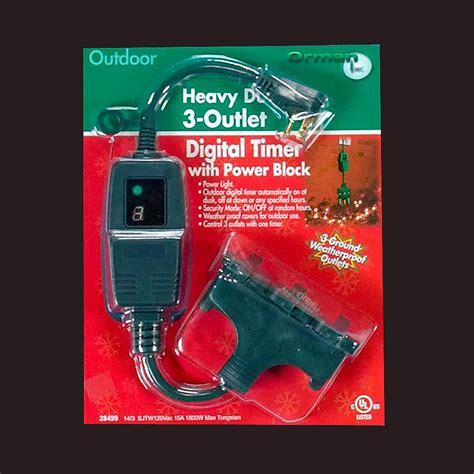 setting christmas lights on a timer heavy duty outdoor timer