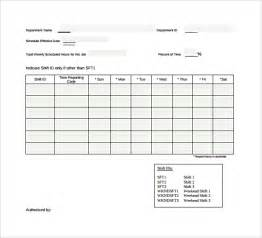 Schedule Form Template work schedule template 15 free documents in pdf word excel