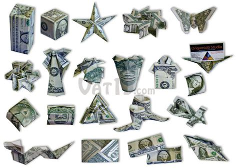 Origami Using Money - the 21 projects in the money origami set range from simple
