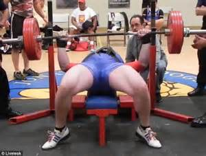 naked on the bench weightlifter drops 545lbs on his chest in failed