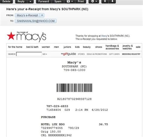 Macys Furniture Customer Service Number by E Receipts Macy S Wins Big In Customer Convenience Data