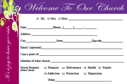 Church Welcome Card Template by Welcome To Rhema Church Cards Jesus Is Lord