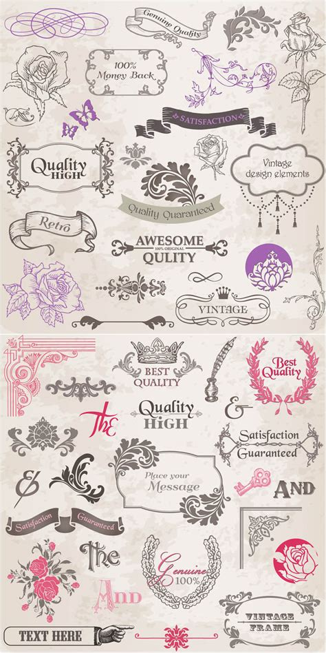 wedding design elements vector vintage graphic design elements vector vector graphics blog