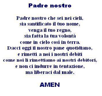 preghiera semplice testo tracce di infinito la splendida preghiera quot padre nostro quot