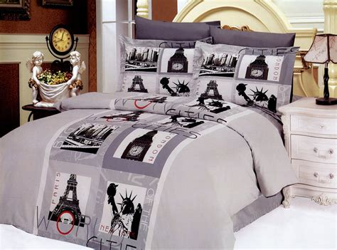 paris themed bedroom set total fab paris london new york bedding a world of big