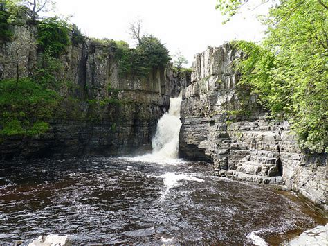 high force waterfall on the river tees photo walking britain high force waterfall is on the river tees near middleton