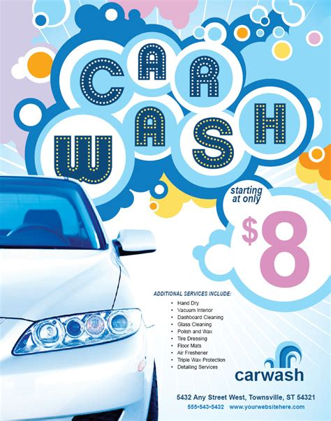 car wash poster template free car wash free psd flyer template t