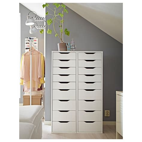 Dresser With Lots Of Drawers Alex Drawer Unit With 9 Drawers White 36x116 Cm Ikea