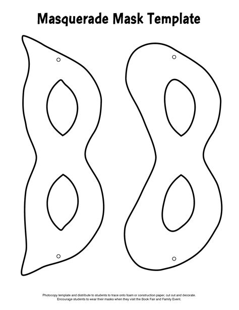 mask template masquerade mask template printable 8th grade