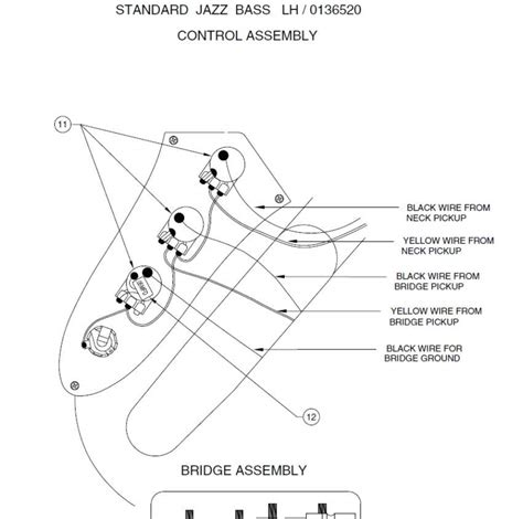 problem with left handed jazz bass wiring talkbass