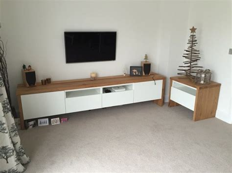 ikea hack besta tv best 197 tv unit with oak wrap around tv units woods and