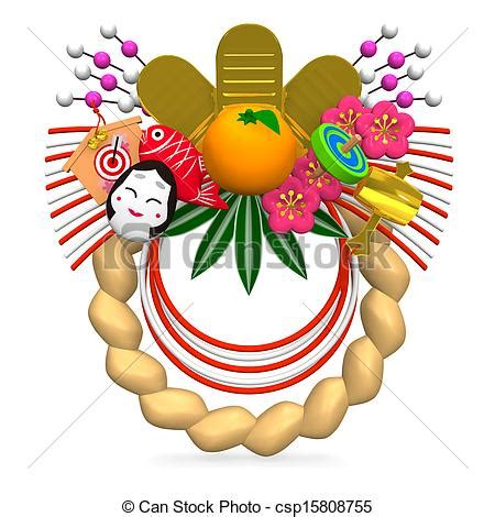 new year decorations clipart stock illustrations of japanese new year decoration 3d