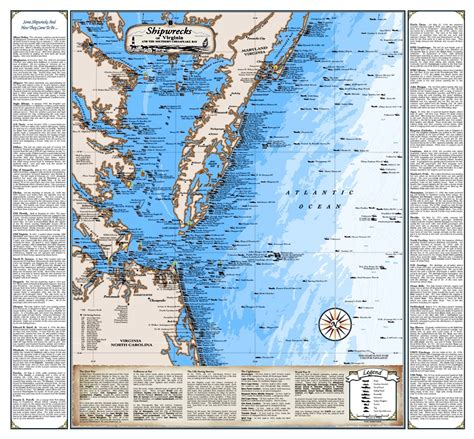 shipwreck location virginia shipwreck chart great nautical print map ebay