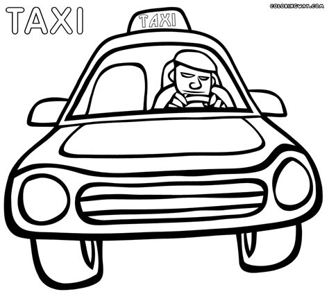 taxi coloring pages coloring pages to download and print