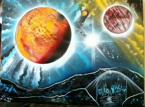 spray paint planet quot planets of the quot spray paint by markus